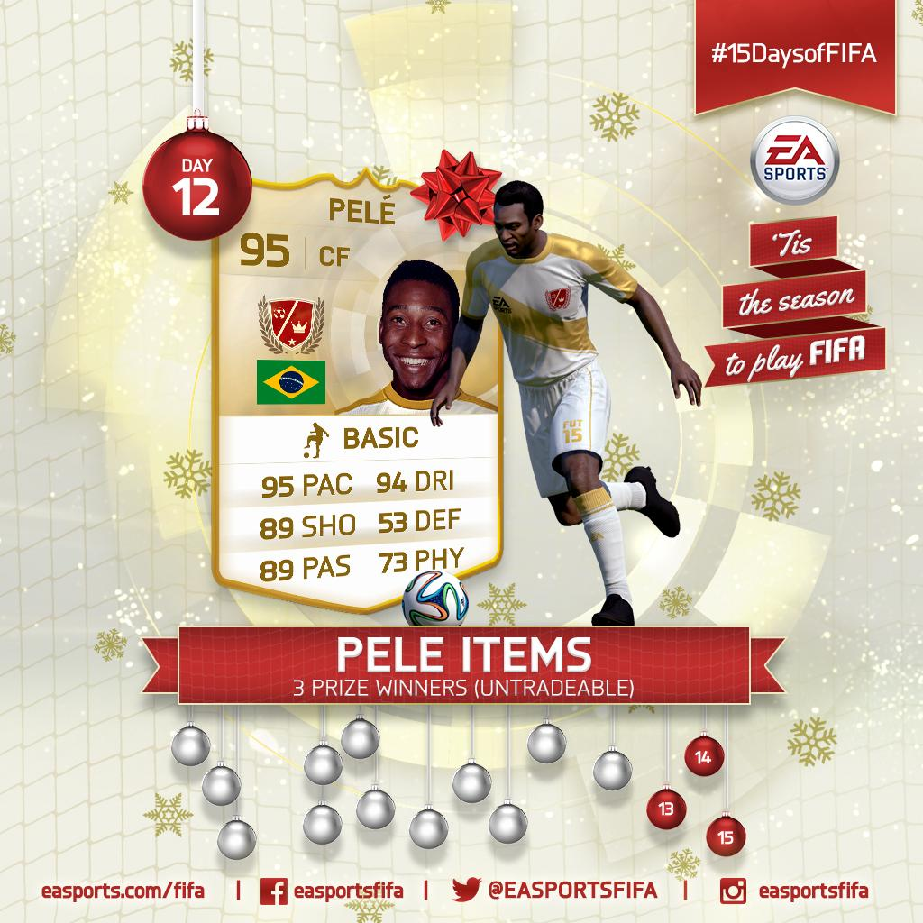 Day 12: @Pele Items! FOLLOW @EASPORTSFIFA and RETWEET for a chance to win. #15DaysofFIFA http://t.co/sNA6TMGsIS