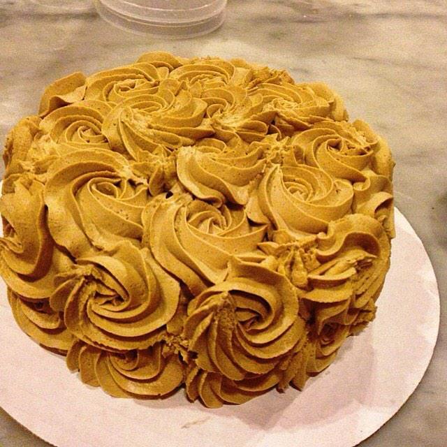 Chocolate Cake. Mocha Frosting. #raw #vegan #glutenfree #organic by special order.