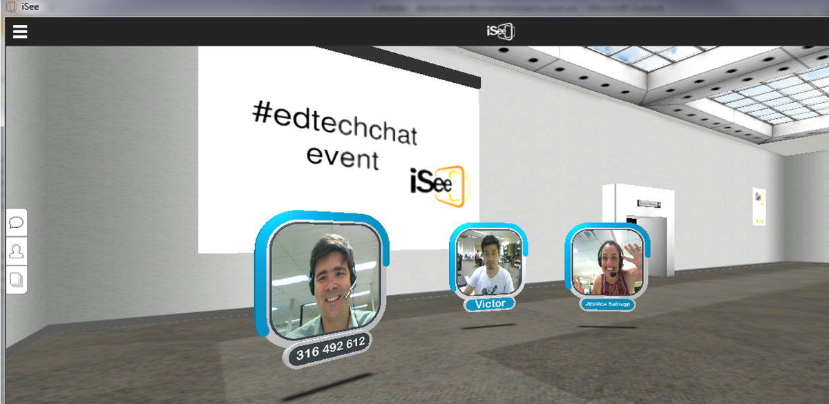 Can you tweet and talk at the same time? Join #edsurge50 #edtechchat in 3D video @iseemeetings http://t.co/k5r2p58YT8 http://t.co/j0KPYikKNu