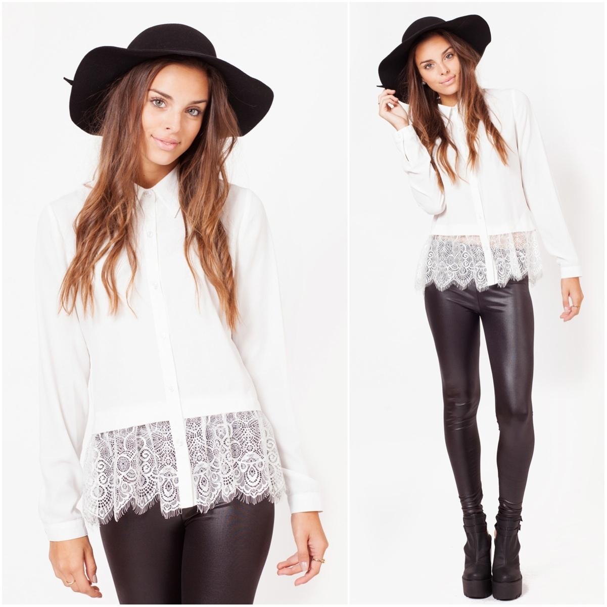 White Lace Hem Blouse £26 💛 http://t.co/6sG5V9s7WW http://t.co/vXvNbuiiIC