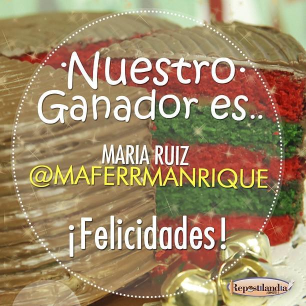 Nuestra feliz ganadora es @maferrmanrique ¡Felicidades! Envíanos tus datos por mensaje privado. ¡Gracias a todos ... http://t.co/3cjLrcSzle
