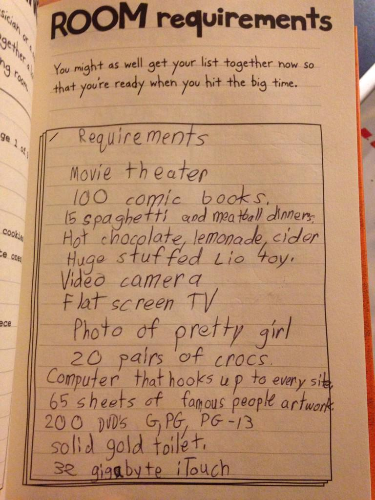 Teddy drummond on twitter these were my room requirements for teddy drummond on twitter these were my room requirements for the diary of a wimpy kid do it yourself book in 3rd grade crocs httptalp6xue53o solutioingenieria Gallery