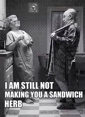 Kuvahaun tulos haulle i am still not making you a sandwich herb