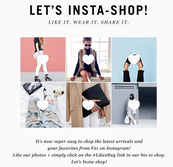You can now buy your favorite items directly from the @Forever21 Instagram! Find out how: http://t.co/FksDtuWINN http://t.co/I85j9HozxM