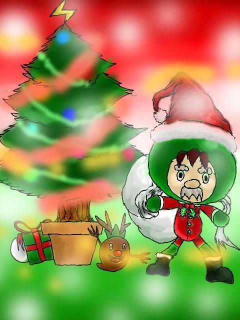 【電波人間のクリスマス2014】ハローダさんのイラスト