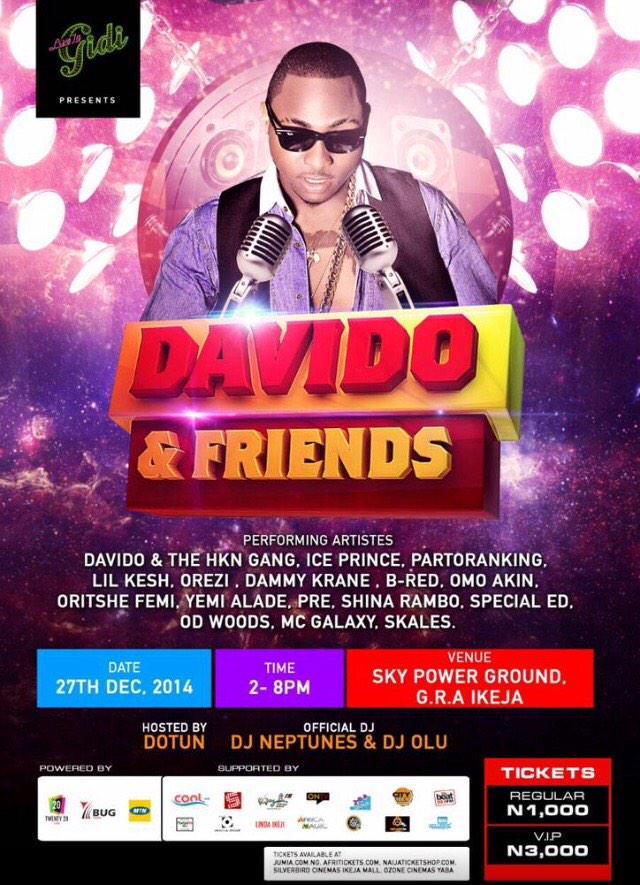@iam_Davido and friends concert