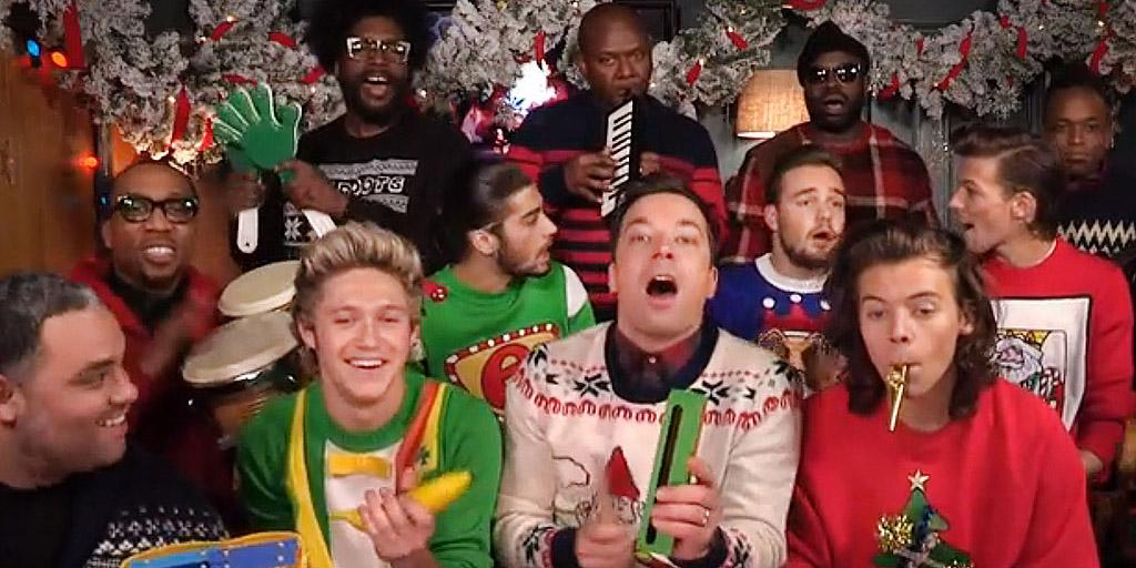 Jimmy Fallon Christmas Sweaters.People On Twitter Onedirection Jimmyfallon Ugly