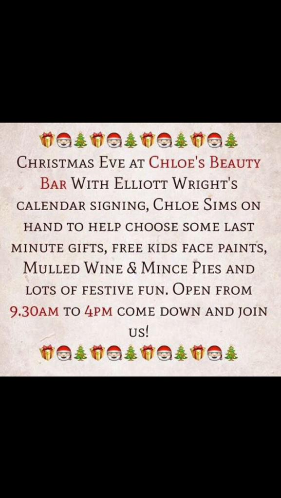 Tomorrow I will be in @ChloesBeautyBar for my last calendar signing... Pop in for a fun day.. #KidsFacePaint #Festive http://t.co/wUuC0HlbR8