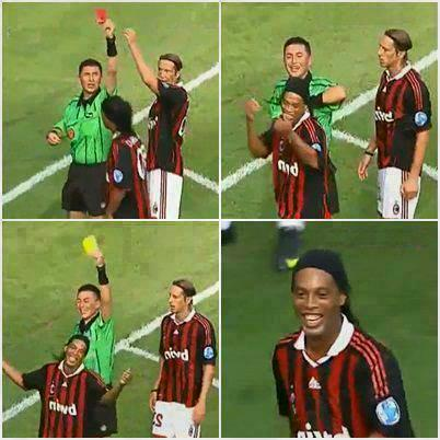 soccer memes on twitter only ronaldinho could make a red card a