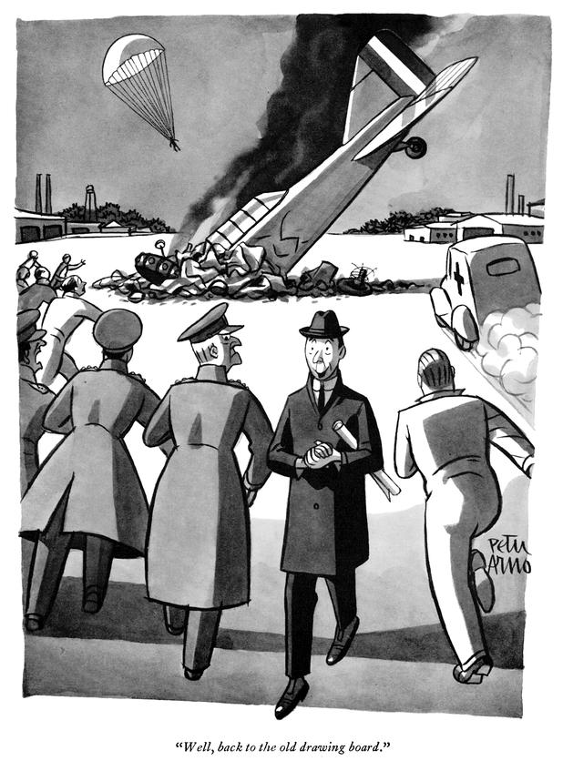 Cartoon: Well, back to the drawing board - New Yorker, 1941