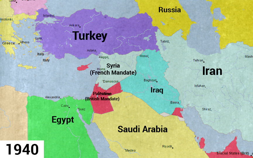 Lost Islamic History on Twitter The evolution of borders since