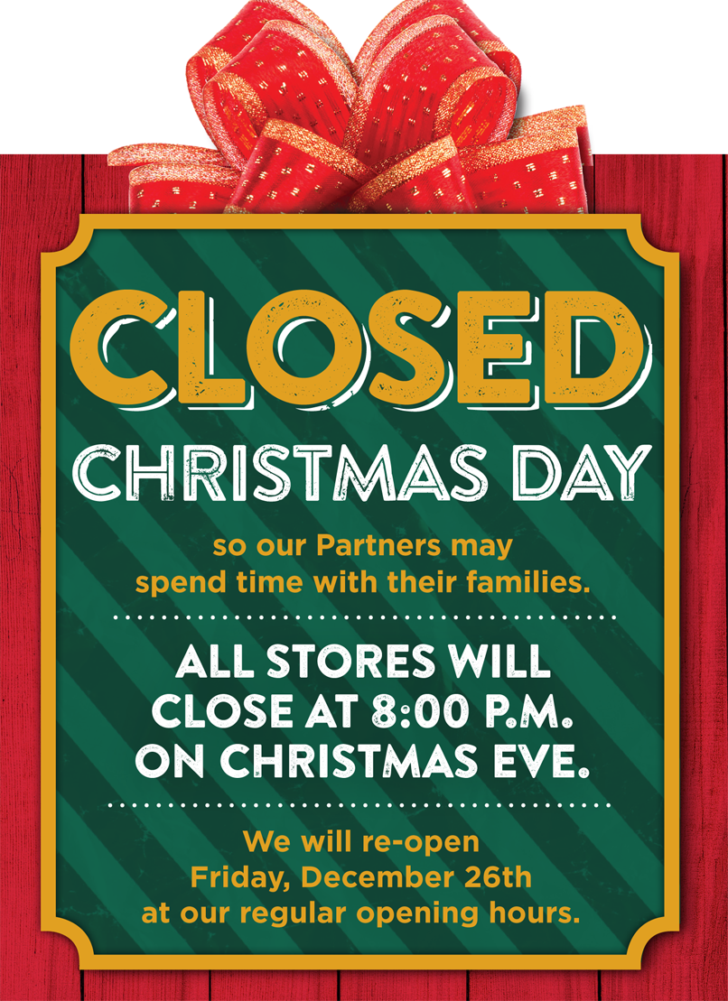 Heb Hours Christmas Eve.H E B On Twitter H E B Will Close At 8 Pm On Christmas Eve