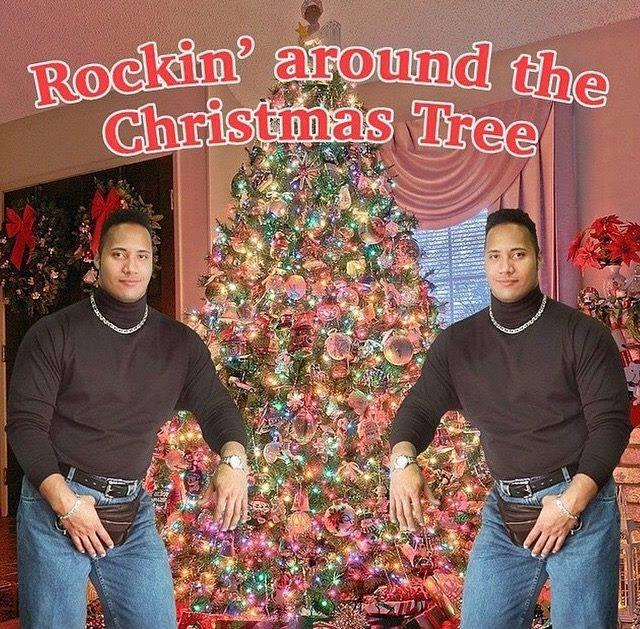 """One of the finest Christmas cards ever """"@ChristmasCount: The Rock just uploaded this to his Instagram.. http://t.co/4R9iGWdsSE"""""""