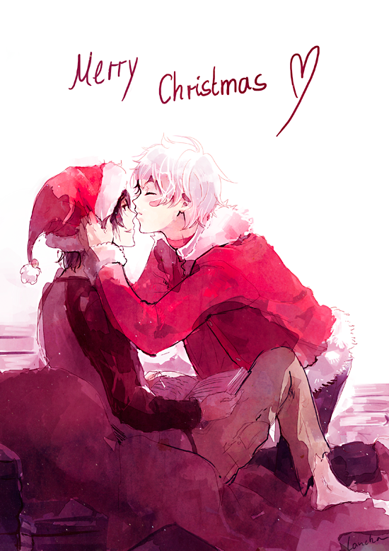 I wish you all happy holidays! Have some Nezumi and Shion <3 http://t.co/3FFMUw6MRQ