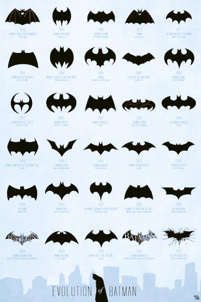 """@ValaAfshar: The evolution of of the Batman logo http://t.co/yqkIgjXrAC"" < very cool"