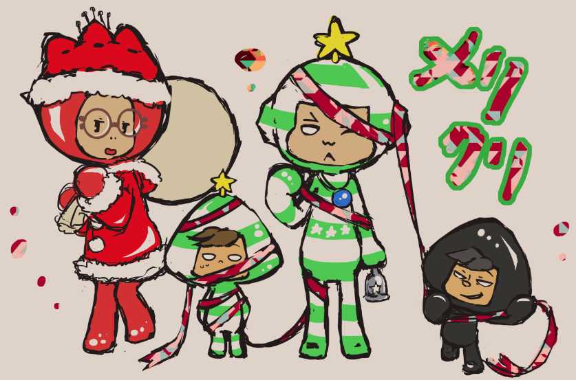 【電波人間のクリスマス2014】火一さんのイラスト