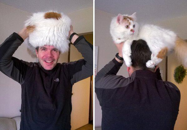 Style on a budget: Here's a suggestion to make a stylish winter hat with things found  laying around the house. http://t.co/eP9aMrls8z