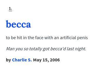 Becca urban dictionary