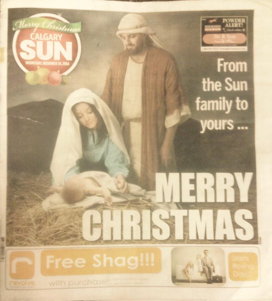 Did you see the cover of the Calgary Sun today?!! Ha haaaa #itsallintheplacement #freeshag http://t.co/PyDULRR4Dd