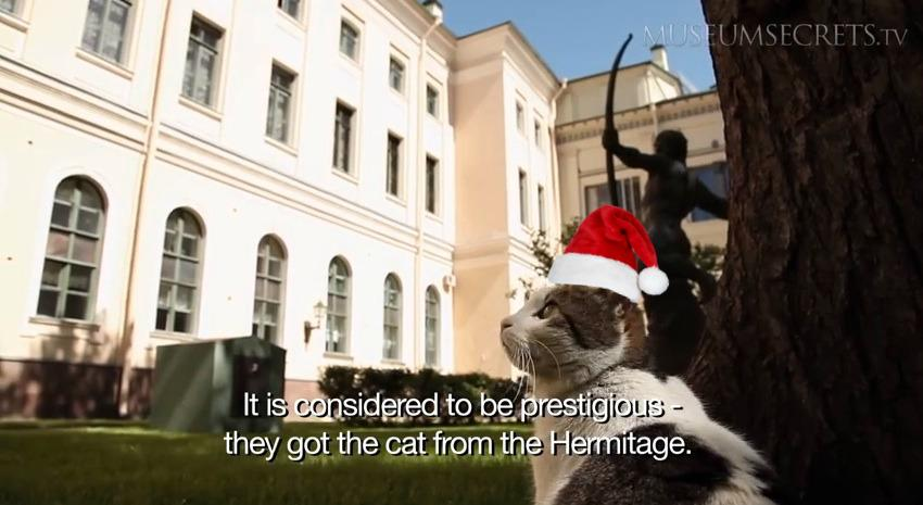 Happy holidays! Yours truly, the cats from the State Hermitage Museum #museumcats #CatsOfTwitter #ChristmasCats http://t.co/sgAMzNOhke