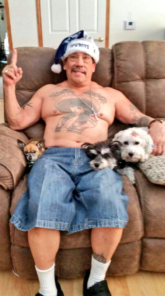 Danny Trejo And His Dogs Want To Wish You A Merry Christmas