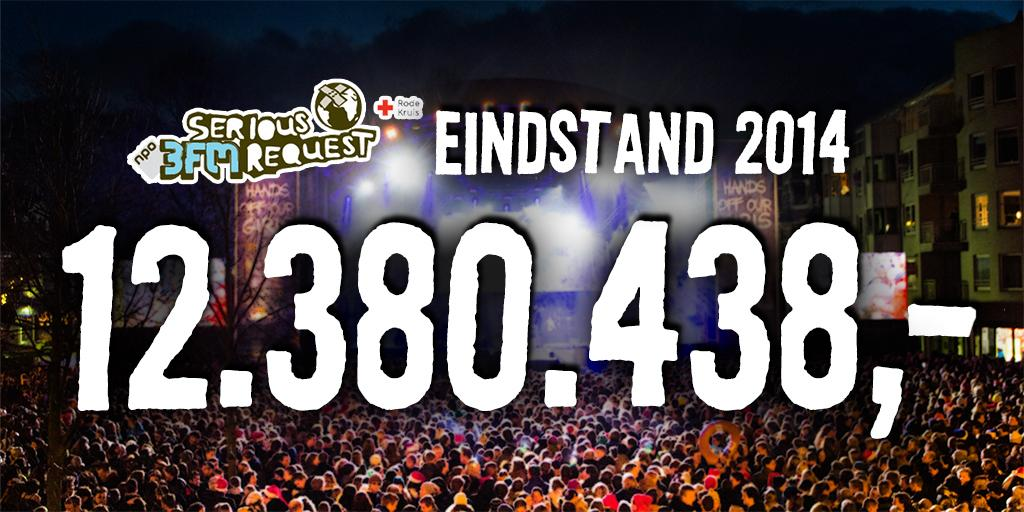 Eindstand #3FM #SR14: € 12.380.438! HANDS OFF OUR GIRLS! - http://t.co/rCsO6Dj2rm http://t.co/0QC37TooRb