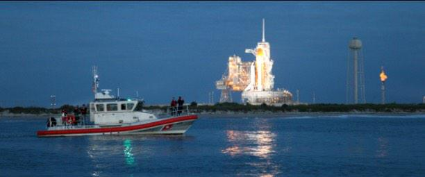 @USCG is patrolling the waters around KSC/CCAFS to ensure mariners are safe as Santa approaches for his stopover. http://t.co/NzxgUCzfic