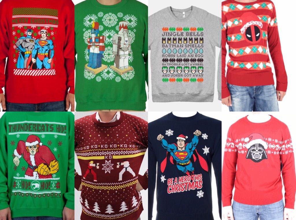 Superhero Ugly Christmas Sweaters.Comicbook Now On Twitter Ugly Christmas Sweaters Geek