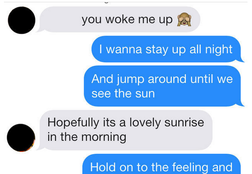 ICYMI: Here's what happens when you use One Direction lyrics on Tinder http://on.sugarsca.pe/16QHq55