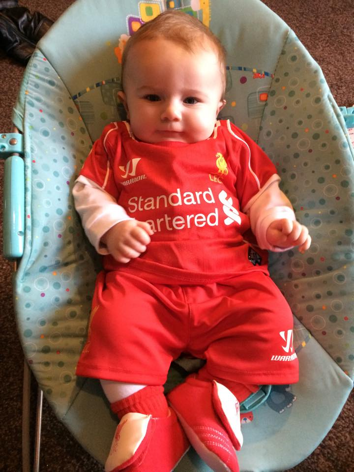 """@DavidHickman87: My nephews' first Liverpool kit. http://t.co/g578XMLTOd"" so cute #YNWA"