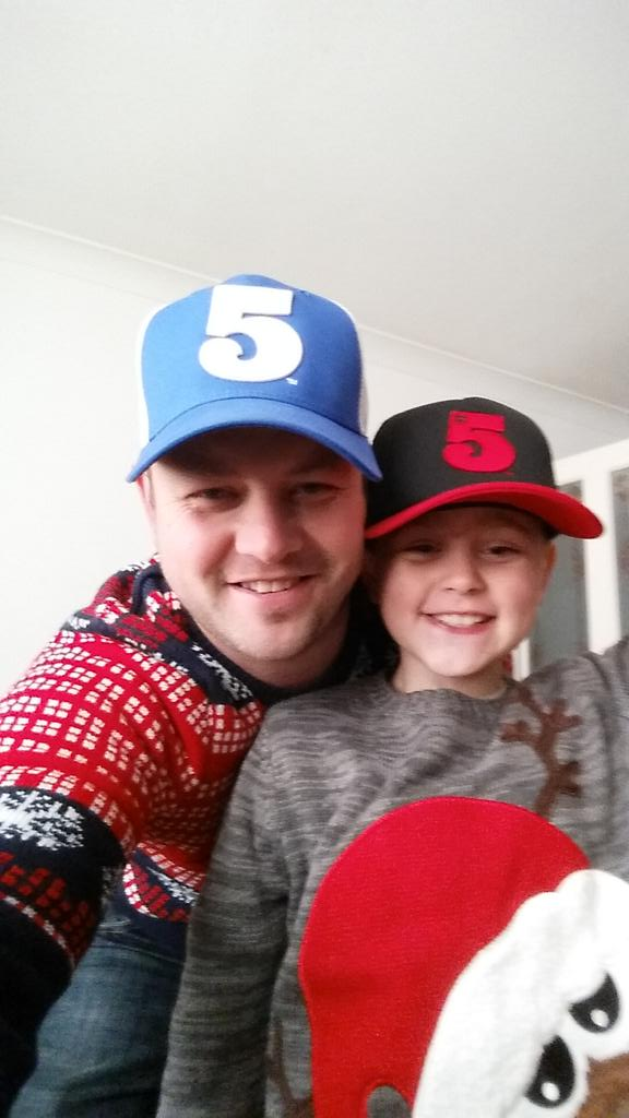 """@Neenat14: @rioferdy5 father and son have been good this year so santa brings us these #5truckers http://t.co/emXuULdAFR"" > enjoy!"