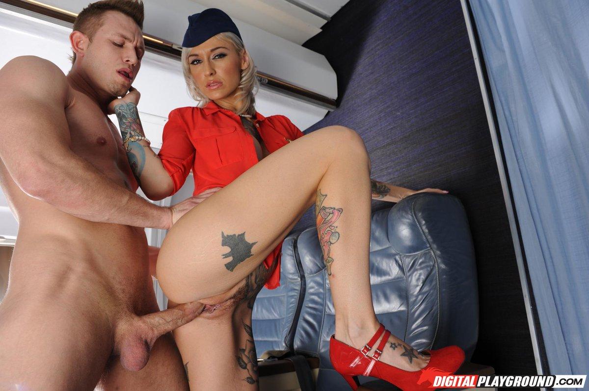 Air hostess fucks pilot in plane porn images