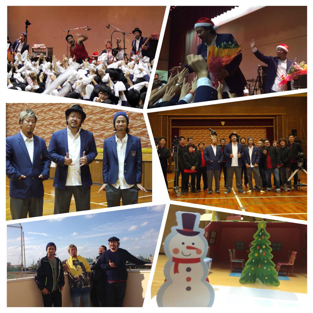 祝✴︎浦添高校創立50周年!   記念すべき節目の年に、母校でのLIVEを実現することができました!!   在校生へのサプライズ クリスマスプレゼント! 校長先生、教職員の皆さん、そして沢山の卒業生の皆さんの粋な計らいで大成功!感謝! http://t.co/kLFk7Rtpwm