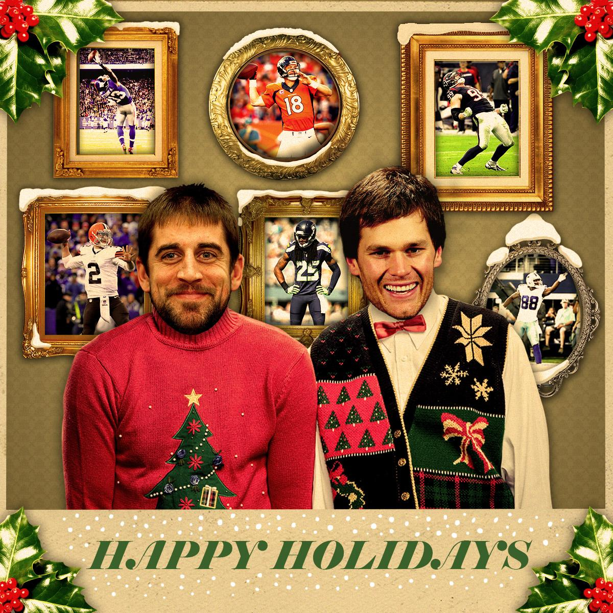 rt nfl from all of us to all of you merry christmas and happy holidays pictwittercomf21moahutb - Nfl On Christmas 2014