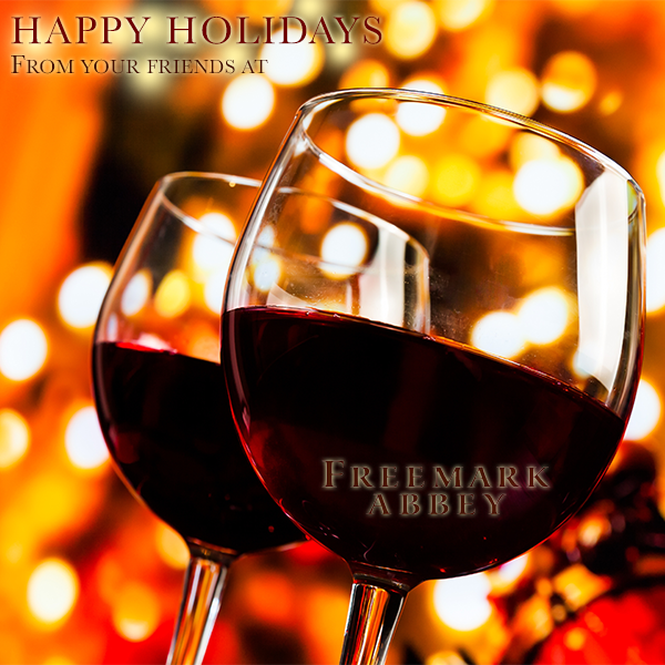 Cheers to all our followers! Wishing you a very merry holiday season from the FreemarkAbbey family! http://t.co/3RAhAI4j9I
