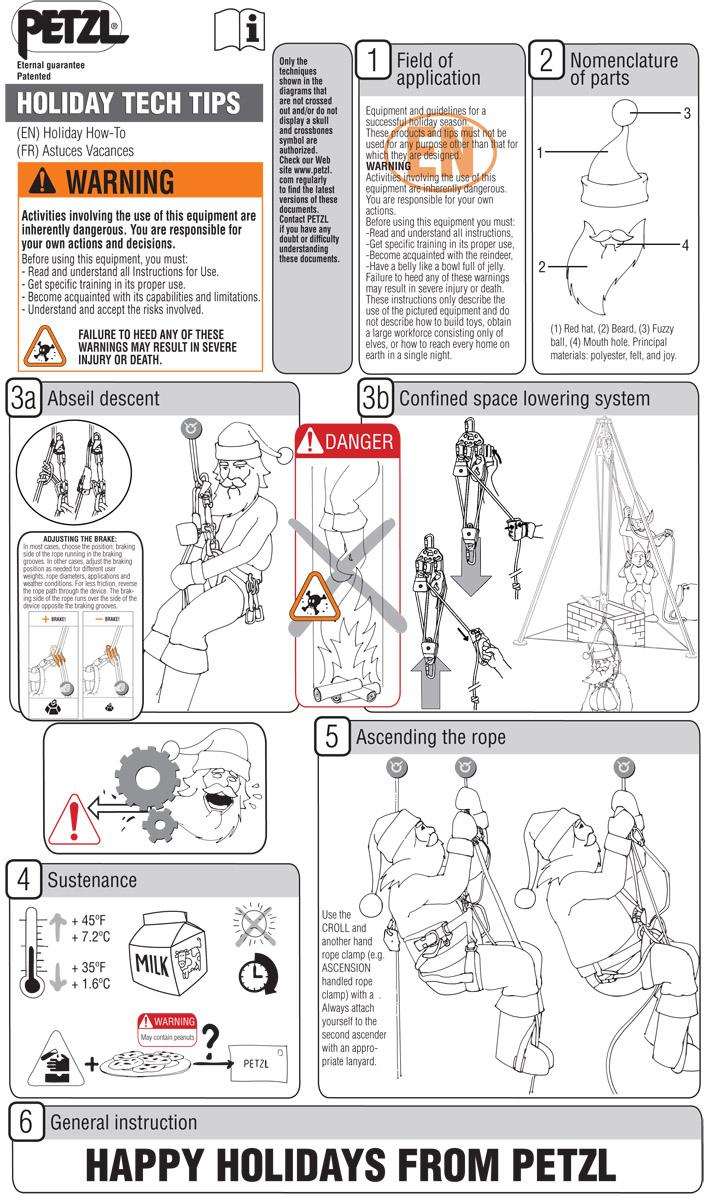 Some rope-access tech tips for Santa/his elves. Happy holidays from Petzl! Be safe out there and have fun :) http://t.co/UTsuvfp6uc