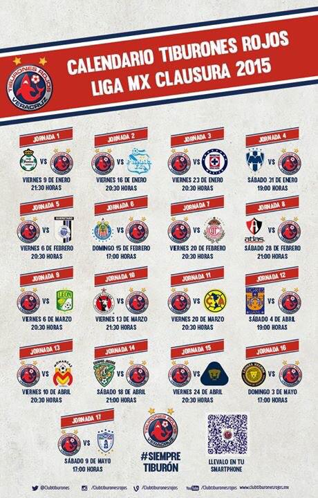 Calendario Clausura 2015