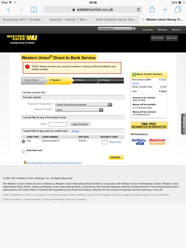 Western Union On Twitter Usmaanc We Suggest You To Delete
