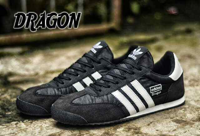 Adidas Dragon Grey Black 40 44 Berkualitas