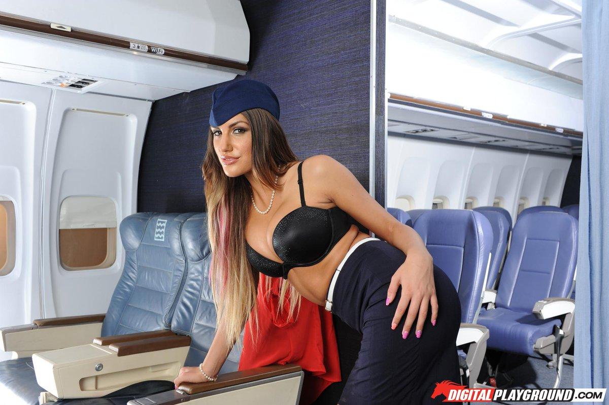 August ames flight attendant