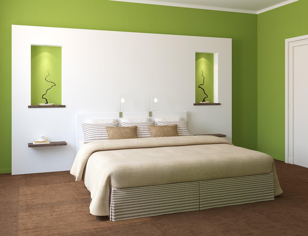 Nerolac paints india on twitter white and green is the for Chambre adulte coloree