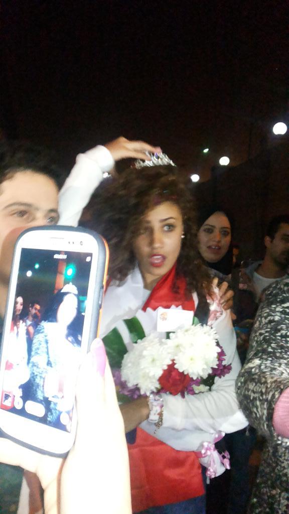 وصول واستقبال شيرين ومحمد حسين ودعاء نجوم ستار اكاديمى10 بمطار القاهرة 26/12/2014