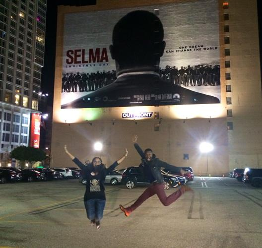 Love this photo @AVAETC and David O. Went to all LA theaters last night to watch people watch #SELMA http://t.co/PEFXGmAY8r