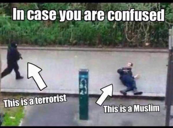 Charlie Hebdo: la photo qui résume les amalgames auxquels font face les musulmans de France http://t.co/l4BcUrhSFW http://t.co/cv8bkiJwJq