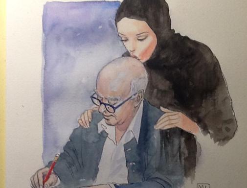 <3 RT @recriweb: RT @BDvandenberghe: Hommage tout en douceur de #Manara à #Wolinski. Ça fait du bien http://t.co/1J3bAIKE6y