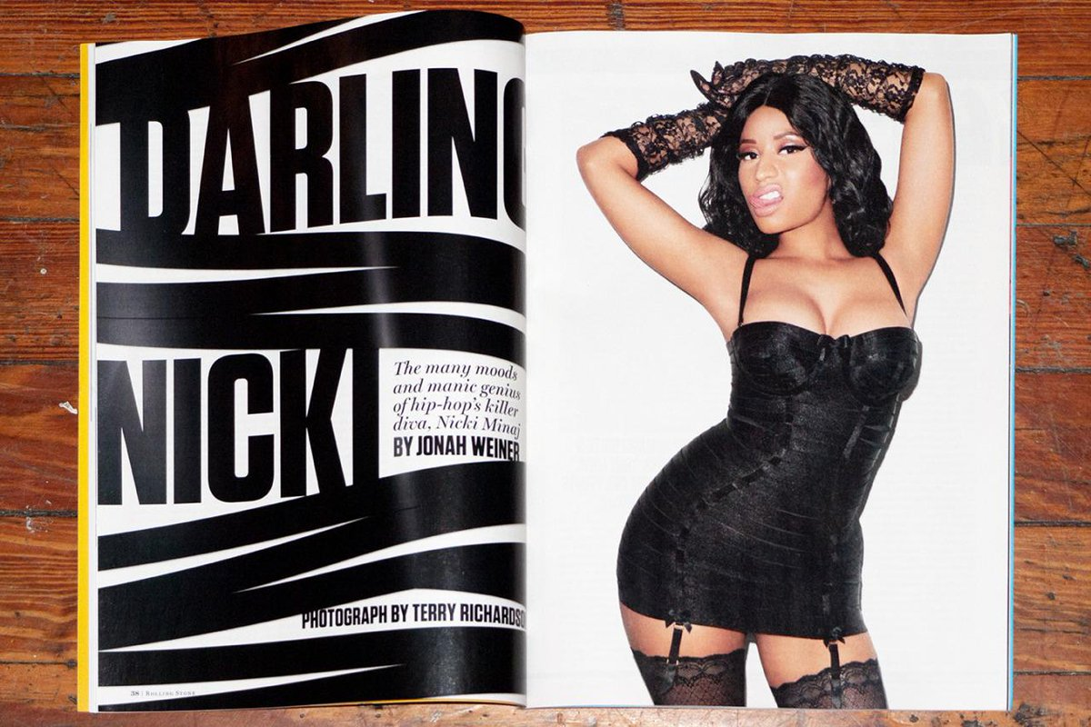 Nicki Minaj sexy na revista Rolling Stone