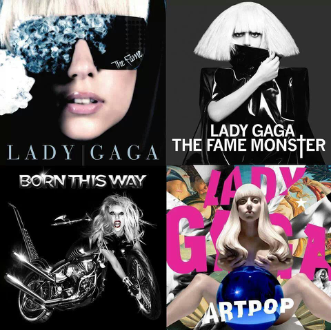 Image result for Lady Gaga albums collage