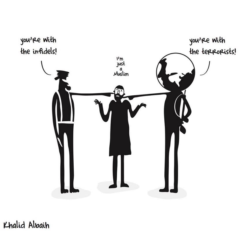 One Muslim Cartoonist's Reaction to the Charlie Hedbo Shootings http://t.co/Y5NDfXXCwn http://t.co/k6cj4iGVef
