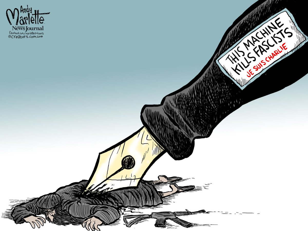 Andy Marlette of the Pensacola News-Journal, borrowing from Woody Guthrie's guitar