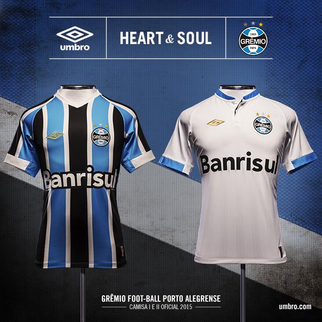 Acabou a espera! É com muito orgulho, força e raça que apresentamos a nova camisa do Grêmio. #GremioUmbro http://t.co/jUKlDgtyqn